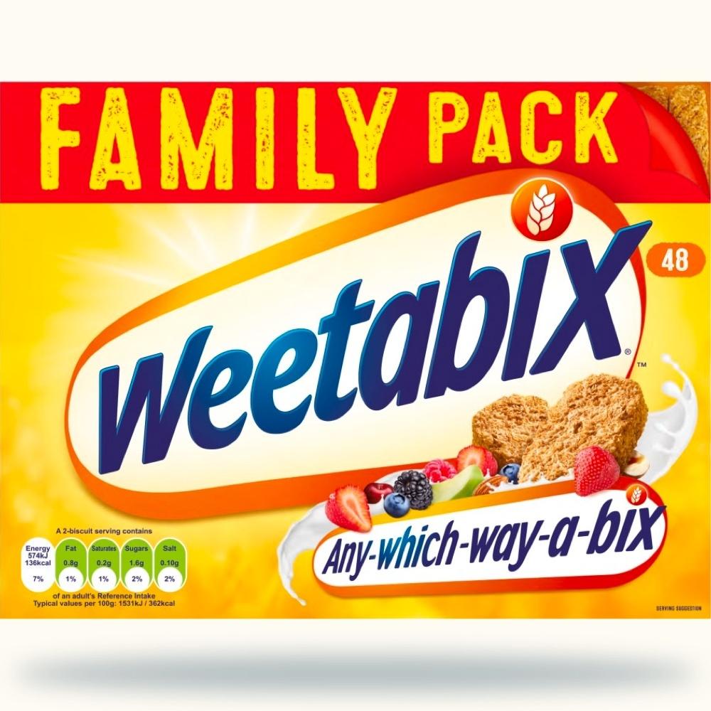 Cereals - Weetabix 48 biscuits