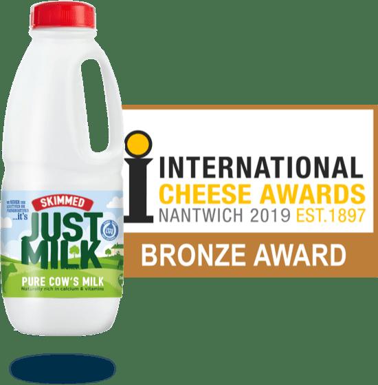 Best tasting Skimmed MILK Bronze Award